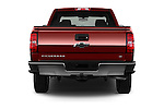 Straight rear view of 2018 Chevrolet Silverado-1500 LT-Double-Cab-Std-Box 4 Door Pick-up Rear View  stock images