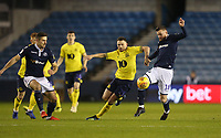Blackburn Rovers' Corry Evans and Millwall's Ryan Tunnicliffe<br /> <br /> Photographer Rob Newell/CameraSport<br /> <br /> The EFL Sky Bet Championship - Millwall v Blackburn Rovers - Saturday 12th January 2019 - The Den - London<br /> <br /> World Copyright &copy; 2019 CameraSport. All rights reserved. 43 Linden Ave. Countesthorpe. Leicester. England. LE8 5PG - Tel: +44 (0) 116 277 4147 - admin@camerasport.com - www.camerasport.com