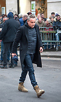 January 12 2018, Paris, France - Funerals of Singer France Gall in Montmartre Cemetery in Paris. Actor Jean Michel Tinivelli is present. # OBSEQUES DE FRANCE GALL AU CIMETIERE DE MONTMARTRE