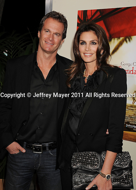 """LOS ANGELES, CA - NOVEMBER 15: Cindy Crawford and Rande Gerber attend """"The Descendants"""" Los Angeles Premiere at AMPAS Samuel Goldwyn Theater on November 15, 2011 in Beverly Hills, California."""