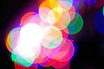 Illuminated Blurred Colored Lights