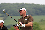 Thomas Bjorn teeing off on the 6th on day three of the Celtic Manor wales Open 2010.Picture Fran Caffrey/Newsfile.ie