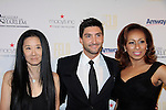 As The World Turns Tamara Tunie poses with designer Vera Wang and Olympic Figure Skater Evan Lysacek - 10th Annual Gala celebrating Figure Skating in Harlem's 18th year of operations at The Stars 2015 Benefit Gala on April 13, 2015 in New York City, New York honoring Olympic Champion Evan Lysacek, Gloria Steinem and Nicole, Alana and Juliette Feld with Mary Wilson as Mistress of Ceremony. (Photos by Sue Coflin/Max Photos)