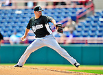 8 March 2010: Florida Marlins' pitcher Ricky Nolasco in action during a Spring Training game against the Washington Nationals at Space Coast Stadium in Viera, Florida. The Marlins defeated the Nationals 12-2 in Grapefruit League action. Mandatory Credit: Ed Wolfstein Photo