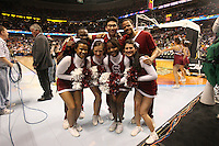 6 April 2008: Stanford Cardinal cheerleaders during Stanford's 82-73 win against the Connecticut Huskies in the 2008 NCAA Division I Women's Basketball Final Four semifinal game at the St. Pete Times Forum Arena in Tampa Bay, FL.