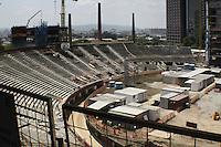 ATENCAO EDITOR: FOTO EMBARGADA PARA VEICULOS INTERNACIONAIS, SP - SÃO PAULO, 04 DE OUTUBRO 2012 - NOVA ARENA PALMEIRAS - Obras da Nova  Arena do Palestra, nessa quinta, 04,  zona oeste da capital - FOTO LOLA OLIVEIRA-BRAZIL PHOTO PRESS