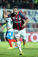 BUENOS AIRES, ARGENTINA, 13.08.2014 - COPA LIBERTADORES DA AMÉRICA - Nestor Ortigoza do San Lorenzo Comemora seu gol durante partida entre San Lorenzo (ARG) e Nacional (PAR) valida pelo jogo de volta da final da Copa Libertadores da America no Estadio Nuevo Gasometro em Buenos Aires na Argentina na noite desta quarta-feira, 13. (Foto: William Volcov / Brazil Photo Press).