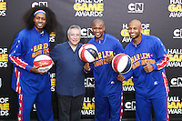 SANTA MONICA, CA, USA - FEBRUARY 15: Harlem Globetrotters  at the 4th Annual Cartoon Network Hall Of Game Awards held at Barker Hangar on February 15, 2014 in Santa Monica, California, United States. (Photo by David Acosta/Celebrity Monitor)