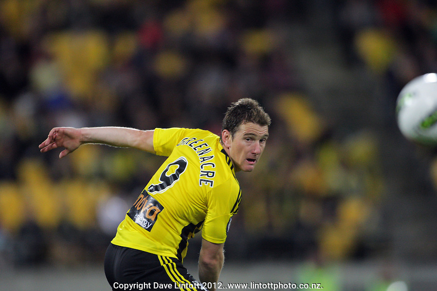 Chris Greenacre in action during the A-League elimination final football match between Wellington Phoenix v Sydney FC at Westpac Stadium, Wellington, New Zealand on Friday, 30 March 2012. Photo: Dave Lintott / lintottphoto.co.nz