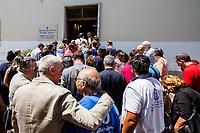 Salvatore Borsellino - Magistrate Paolo Borsellino&rsquo;s brother &amp; founder of the Movement Agende Rosse/Red Notebooks Movement &amp; Salvatore Borsellino - Magistrate Paolo Borsellino&rsquo;s brother &amp; founder of the Movemento Agende Rosse/Red Notebooks Movement &amp; Antonio Vullo - Only members of Judge Borsellino police &ldquo;scorta&rdquo; (escorts from the special branch of the Italian police force who protect Judges) survived at Via D&rsquo;Amelio bombing.<br /> <br /> Palermo (Sicily - Italy), 18/07/2017. 25th Anniversary Commemoration of Via D'Amelio bombing, at the &quot;Reparto Scorte&quot; of the Lungaro Police Station in Palermo (The 'Reparto Scorte' is a special branch of the Italian police force, responsible for protecting Judges). On the 19 July 1992, 100kg TNT bomb killed the anti-mafia Magistrate Paolo Borsellino. Also killed by the bomb were five members of Borsellino's police &quot;scorta&quot; (escorts from the special branch of the Italian police force who protect Judges). The police officers were: Agostino Catalano, Emanuela Loi (the first Italian female member of the police special branch and the first one to be killed on duty), Vincenzo Li Muli, Walter Eddie Cosina and Claudio Traina.<br /> <br /> For more info please click here: http://19luglio1992.com &amp; https://www.facebook.com/agenderosse/ &amp; http://www.siap-polizia.org/