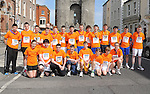 Local Scouts who took part in the Boyne 10K run. Photo: Colin Bell/pressphotos.ie