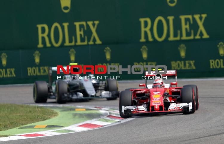 02.09.-04.09.2016, Autodromo Nationale, Monza, ITA, F1, Grosser Preis von Italien, Monza,  Race 14, im Bild <br /> Kimi Raikkonen (FIN#7), Scuderia Ferrari, Nico Rosberg (GER#6), Mercedes AMG Petronas Formula One Team<br /> <br /> <br /> Foto &copy; nordphoto / Bratic