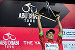 Esteban Chaves (COL) Orica GreenEdge takes the overall victory of the inaugural Abu Dhabi Tour after Stage 4, The Yas Stage, of the 2015 Abu Dhabi Tour running 110 km 20 laps around the Yas Marina Circuit, Abu Dhabi. 11th October 2015.<br /> Picture: ANSA/Angelo Carconi | Newsfile