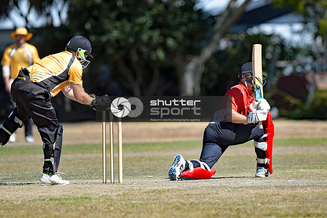 NELSON, NEW ZEALAND March 2: Div1 Cricket Stoke Nayland CC v Wakatu CC, Marsden Rec, Nelson, March 2 2019, Nelson, New Zealand (Photos by Barry Whitnall/Shuttersport Limited)