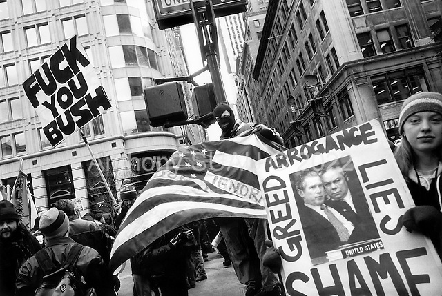 New York, New York.USA.February 15, 2003..A massive anti-Iraq war rally on 1st, 2nd and 3rd Avenues in New York City. Crowd estimates range from 100,000 to 400,000 people.