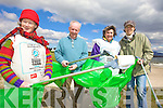 CLEAN UP: Members of the Ballinskelligs Environmental Action Group (BEAG) who are arranging a clean up of the area on Saturday, l-r: Ryna O'Shea, Michael Quirke, Gina Keen, Alexandra Bonner.