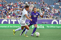 Orlando, FL - Saturday Sept. 24, 2016: Brittany Taylor, Kristen Edmonds during a regular season National Women's Soccer League (NWSL) match between the Orlando Pride and FC Kansas City at Camping World Stadium.