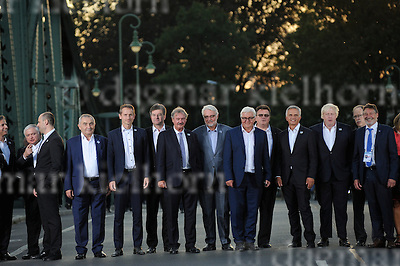 September 01-16,Potsdam,Brandenburg,Germany<br /> Informal OSCE Foreign Ministers&rsquo; Meeting in Potsdam<br /> German Foreign Minister Frank-Walter Steinmeier and participants of the meeting cross the Glienicker Bridge
