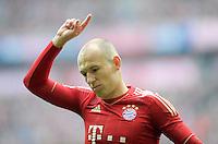 FUSSBALL   1. BUNDESLIGA  SAISON 2011/2012   29. Spieltag FC Bayern Muenchen - FC Augsburg       07.04.2012 Arjen Robben (FC Bayern Muenchen)