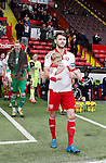 Ben Whiteman carries out the mascot during the PDL U21 Final at Bramall Lane Sheffield. Photo credit should read: Simon Bellis/Sportimage