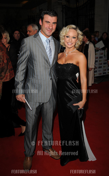 Joe Calzaghe and Kristina Rihanoff arriving for the Pride of Britain Awards 2009, held at Grosvenor House, London. 05/10/2009. Picture by: Gerry Copper / Featureflash