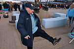 Manchester City 4, Tottenham Hotspur 3, 17/04/2019. Etihad Stadium, Champions League. A home supporter outside the Etihad Stadium before Manchester City played Tottenham Hotspur in a Champions League quarter final, second league. The first leg was played the previous week at Spurs' new stadium which they won 1-0. The second lead resulted in a 4-3 win for City however Tottenham progressed to the semi-finals against Ajax on the away goal rule as the teams finished 4-4 on aggregate. Photo by Colin McPherson.