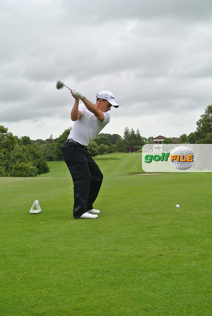 Daniel Holland (Castle) on the 9th tee during round 1 of The Mullingar Scratch Cup in Mullingar Golf Club on Sunday 3rd August 2014.<br /> Picture:  Thos Caffrey / www.golffile.ie