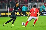 04.11.2018, Opel-Arena, Mainz, GER, 1 FBL, 1. FSV Mainz 05 vs SV Werder Bremen, <br /> <br /> DFL REGULATIONS PROHIBIT ANY USE OF PHOTOGRAPHS AS IMAGE SEQUENCES AND/OR QUASI-VIDEO.<br /> <br /> im Bild: Theodor Gebre Selassie (#23, SV Werder Bremen) gegen Aaron Martin (#3, FSV Mainz)<br /> <br /> Foto © nordphoto / Fabisch