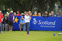 Nelly Korda of Team USA on the 11th tee during Day 1 Fourball at the Solheim Cup 2019, Gleneagles Golf CLub, Auchterarder, Perthshire, Scotland. 13/09/2019.<br /> Picture Thos Caffrey / Golffile.ie<br /> <br /> All photo usage must carry mandatory copyright credit (© Golffile | Thos Caffrey)