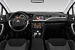 Stock photo of straight dashboard view of 2016 Citroen C5-Berline Business 4 Door Sedan Dashboard