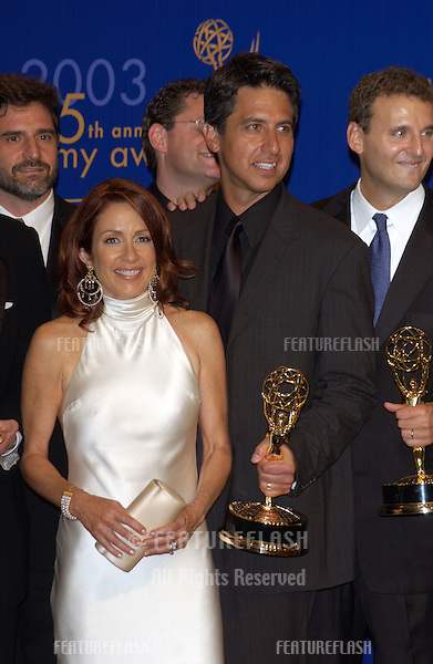 PATRICIA HEATON & RAY ROMANO at the 55th Annual Emmy Awards in Los Angeles..Sept 21, 2003
