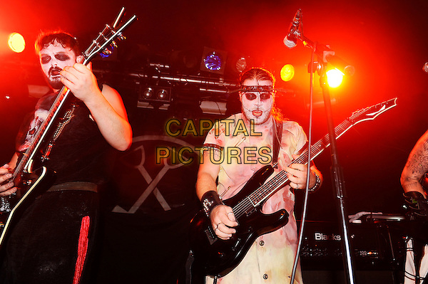 LONDON, ENGLAND - OCTOBER 31: Brother Pain and Dr Rabid Hell of 'Evil Scarecrow' performing at The Garage on October 31, 2015 in London, England.