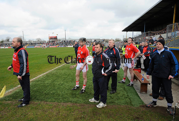 Great Expectations, Corks sideling during their NHL game at Cusack Park. Photograph by John Kelly.
