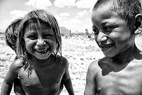 Boy. poor children of popular colony in the town with the most poverty and population in Sonora, Mexico. Miguel Aleman settlement or exit 13. Calle doce. mogrants. bank and black. children, human rights, malnutrition, child malnutrition. (Photo: Luis Gutierrez / NortePhoto.com)<br /> Niño. niños pobres de colonia popular en el poblado con mas pobreza y poblacion fotante en Sonora, Mexico. Poblado Miguel Aleman o salle 13. Calle doce. mograntes.  banco y negro. niñes, derechos hunamos, desnutricion, desnutricion infantil. (Photo: Luis Gutierrez/ NortePhoto.com)