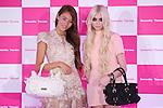 (L to R) Jessica Michibata, Taylor Momsen, June 18, 2011: Actress and musician Taylor Momsen appears at a Samantha Thavasa event in Aoyama, Tokyo, Japan. (Photo by YUTAKA/AFLO) [1040]