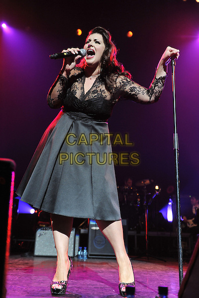 Jodie Prenger.Vintage 2011 at Royal Festival Hall, London, England, UK..July 31st, 2011.stage concert live gig performance music full length black lace dress  singing.CAP/MAR.© Martin Harris/Capital Pictures.