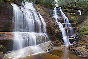 Bridesmaid Falls in Franconia, New Hampshire during the spring months. These falls are located on Meadow Brook, and are also known as Noble Falls.