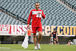 28 May 2010: Landon Donovan. The United States Men's National Team held a practice session at Lincoln Financial Field in Philadelphia, Pennsylvania the day before playing Turkey in their final home friendly prior to the 2010 FIFA World Cup in South Africa.