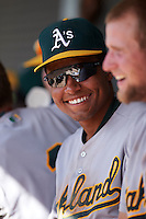 Oakland Athletics Richie Martin (20) during an instructional league game against the San Francisco Giants on October 12, 2015 at the Giants Baseball Complex in Scottsdale, Arizona.  (Mike Janes/Four Seam Images)