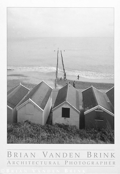 BEACH COTTAGES ON THE CHANNEL<br /> Southwold, England &copy; Brian Vanden Brink, 2002