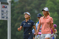 Danielle Kang (USA) and So Yeon Ryu (KOR) head down 10 during round 1 of the U.S. Women's Open Championship, Shoal Creek Country Club, at Birmingham, Alabama, USA. 5/31/2018.<br /> Picture: Golffile   Ken Murray<br /> <br /> All photo usage must carry mandatory copyright credit (© Golffile   Ken Murray)