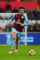 Burnley's Matthew Lowton<br /> <br /> Photographer Ashley Crowden/CameraSport<br /> <br /> The Premier League - Swansea City v Burnley - Saturday 10th February 2018 - Liberty Stadium - Swansea<br /> <br /> World Copyright &copy; 2018 CameraSport. All rights reserved. 43 Linden Ave. Countesthorpe. Leicester. England. LE8 5PG - Tel: +44 (0) 116 277 4147 - admin@camerasport.com - www.camerasport.com