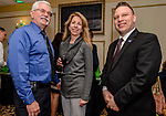 WOLCOTT, CT. 05 April 2018-040518BS09 - From left, Randy and Bethanne Watts with State Representative Rob Sampson enjoy themselves at the Wolcott Chamber of Commerce awards banquet at Mahan's Lakeview in Wolcott on Thursday evening. Bill Shettle Republican-American