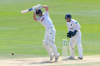 Tom Westley in batting action for Essex as Tim Ambrose looks on from behind the stumps during Essex CCC vs Warwickshire CCC, Specsavers County Championship Division 1 Cricket at The Cloudfm County Ground on 19th June 2017