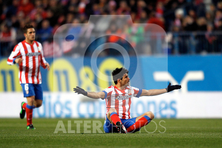 Atletico de Madrid's Diego Costa during La Liga  match. February 24,2013.(ALTERPHOTOS/Alconada)