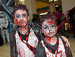 Sergio and Santiago Sousa at the Halloween celebrations at the Drogheda Town Centre. Photo:Colin Bell/pressphotos.ie