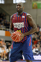 FC Barcelona Regal's Nathan Jawai during Liga Endesa ACB match.November 18,2012. (ALTERPHOTOS/Acero) /NortePhoto