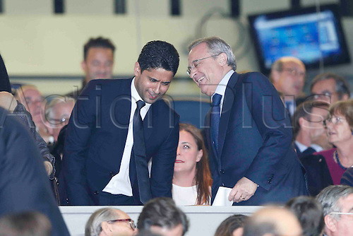 03.11.2015. Madrid, Spain.  Florentino Perez (Mr) Real Madrid during the soccer match UCL Champions League between Real Madrid and PSG at the Santiago Bernabeu stadium in Madrid, Spain, November 3, 2015.