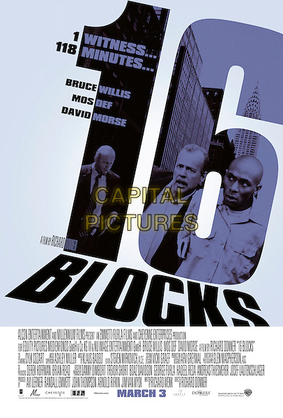 POSTER ART.in 16 Blocks.*Filmstill - Editorial Use Only*.CAP/AWFF.Supplied by Capital Pictures.