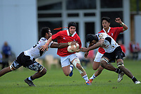 NZ's Tepaea Cook-Savage in action during the rugby union match between New Zealand Schools Barbarians and Fiji Schools at St Paul's Collegiate in Hamilton, New Zealand on Friday, 4 October 2019. Photo: Dave Lintott / lintottphoto.co.nz